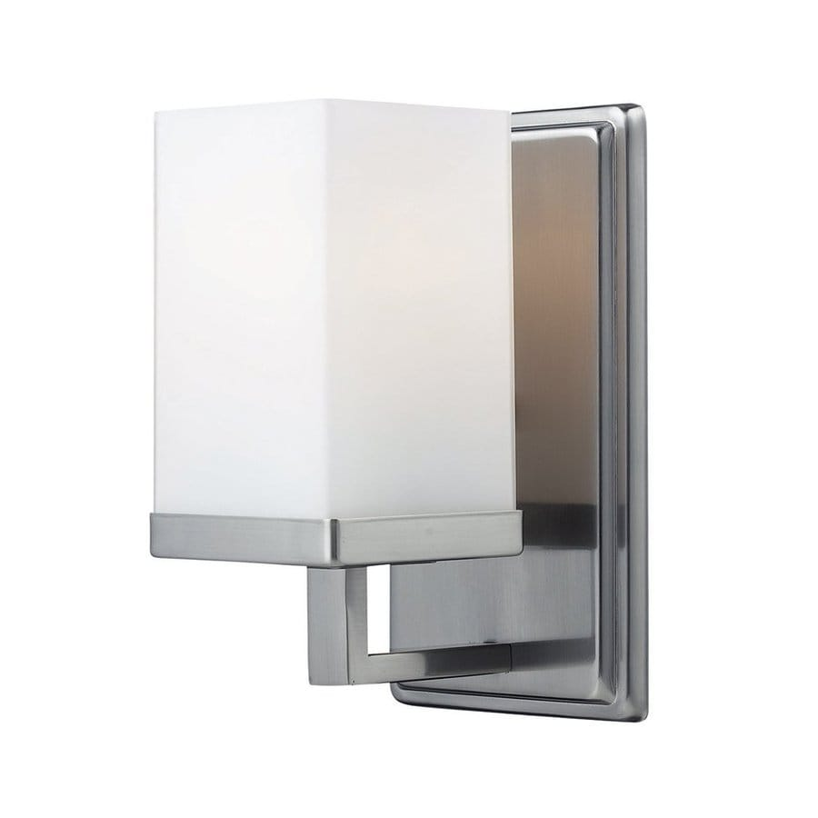 Z-Lite Tidal 4.5-in W 1-Light Brushed Nickel Arm Hardwired Wall Sconce