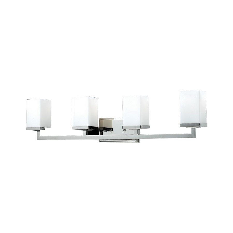 Z-Lite Tidal 4-Light Brushed Nickel Square Vanity Light