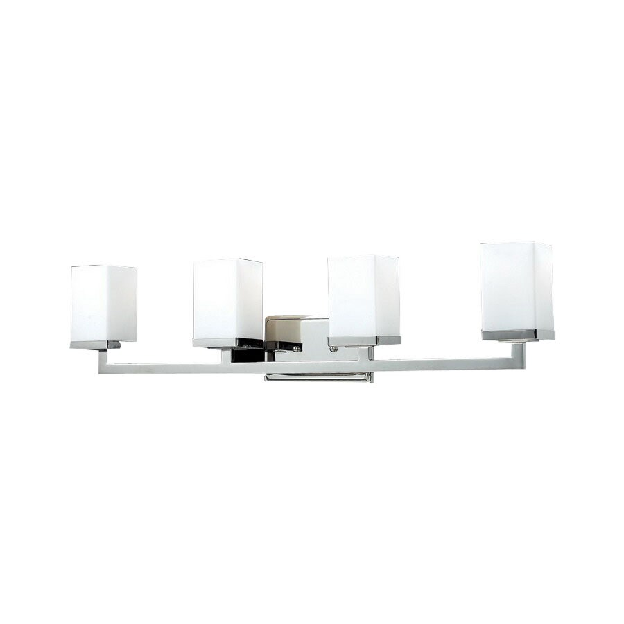 Z-Lite Tidal 4-Light 8-in Chrome Square Vanity Light