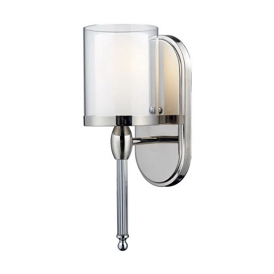 Z-Lite Argenta 4.75-in W 1-Light Chrome Arm Hardwired Wall Sconce
