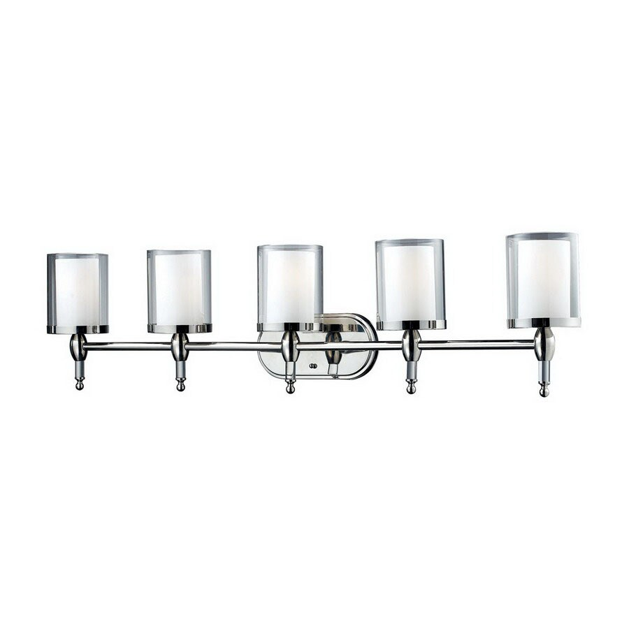 Z-Lite Argenta 5-Light Chrome Cylinder Vanity Light