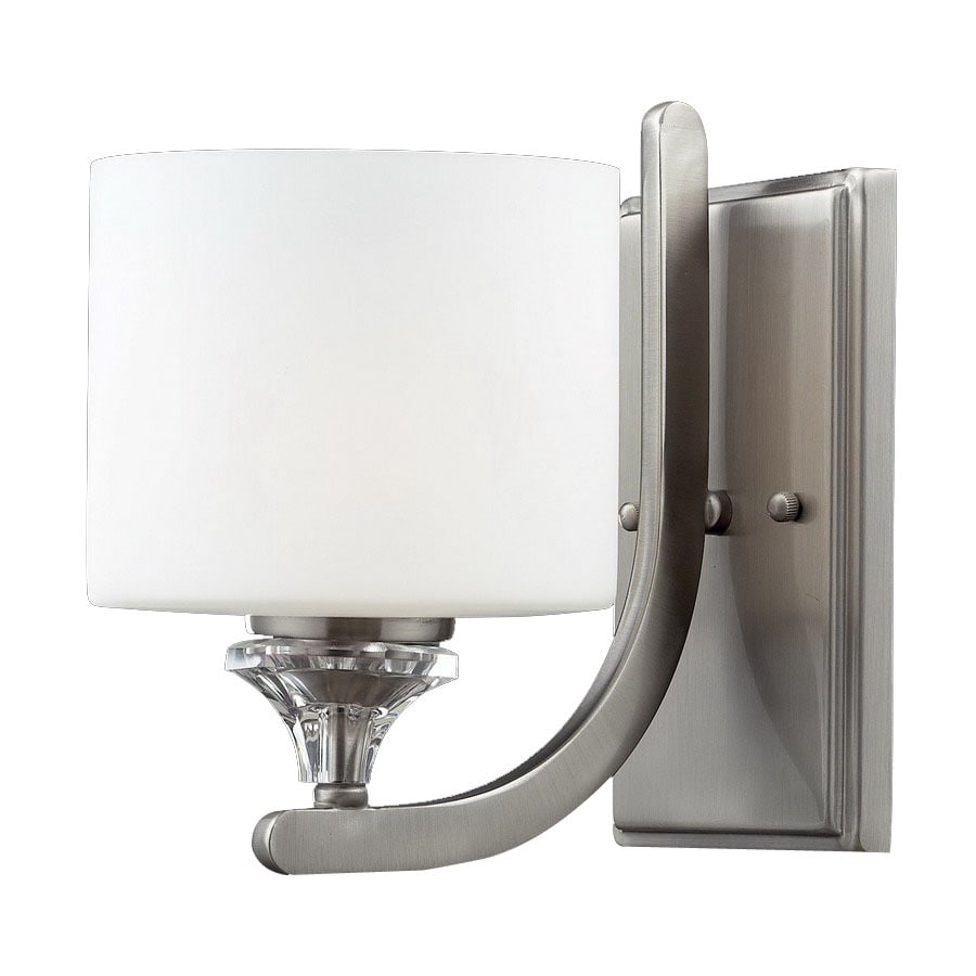 Z-Lite Avignon 9.25-in W 1-Light Satin Nickel Arm Hardwired Wall Sconce
