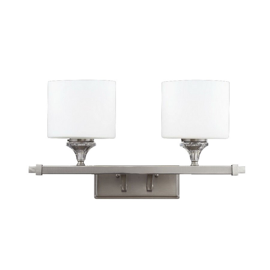 Z-Lite Avignon 18.75-in W 2-Light Satin nickel Arm Wall Sconce