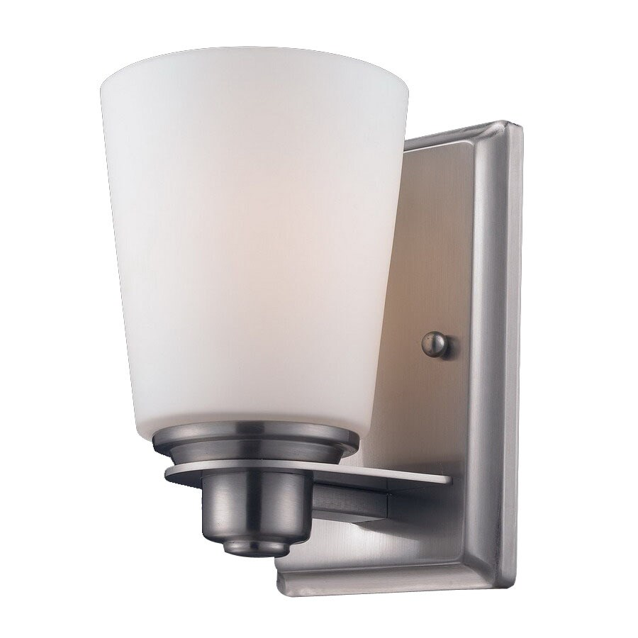 Z-Lite Nile 4.5-in W 1-Light Brushed Nickel Arm Wall Sconce