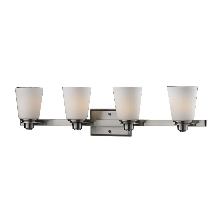 Z-Lite Nile 4-Light Brushed Nickel Cylinder Vanity Light