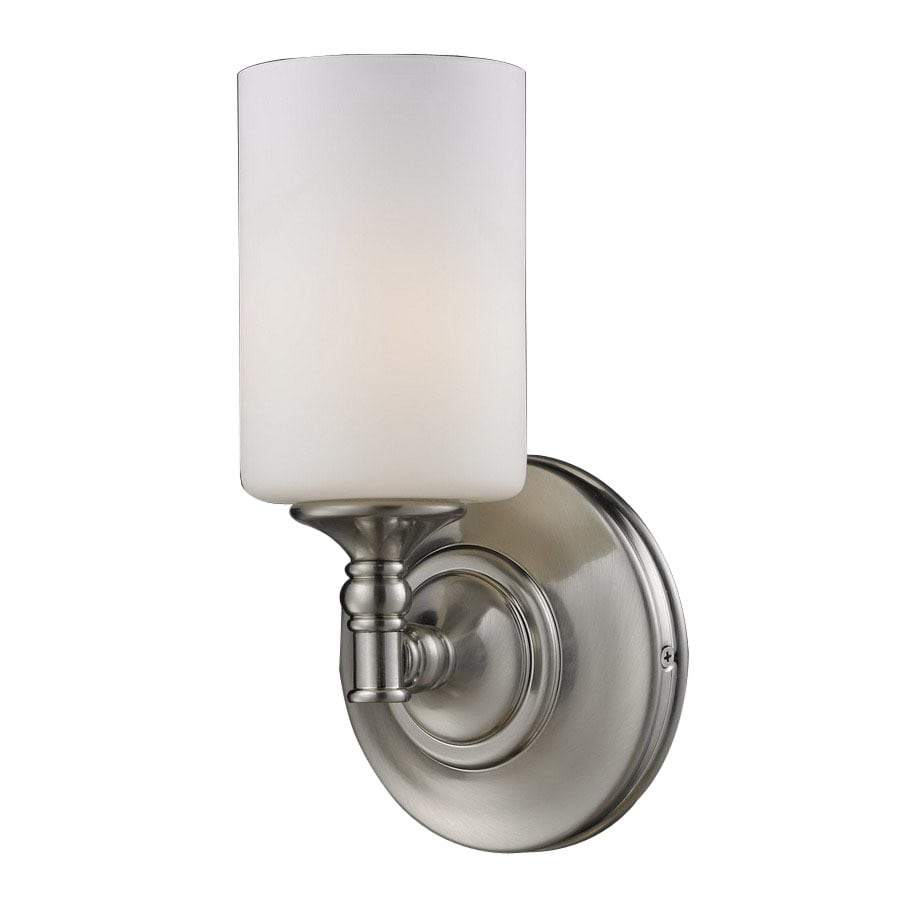 Z-Lite Cannondale 5.75-in W 1-Light Brushed Nickel Arm Hardwired Wall Sconce