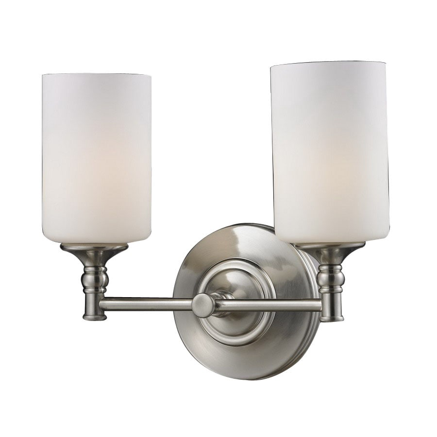 Z-Lite Cannondale 13-in W 2-Light Brushed Nickel Arm Hardwired Wall Sconce