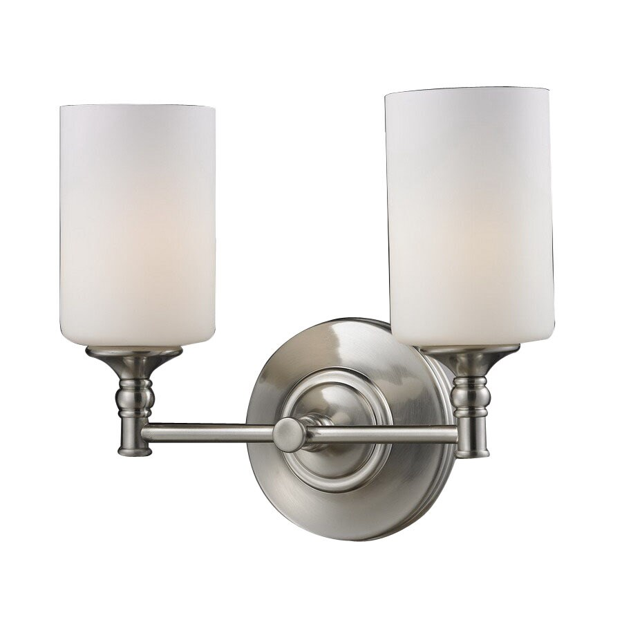 Shop Z-Lite Cannondale 13-in W 2-Light Brushed Nickel Arm Wall Sconce at Lowes.com