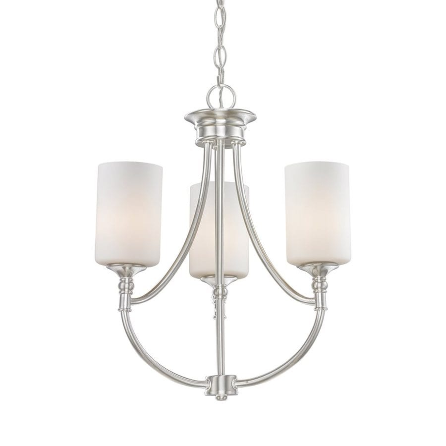 Z-Lite Cannondale 17-in 3-Light Brushed Nickel Industrial Shaded Chandelier