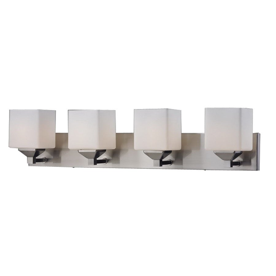 Z-Lite Quube 4-Light 6.75-in Brushed nickel Square Vanity Light  sc 1 st  Loweu0027s & Shop Z-Lite Quube 4-Light 6.75-in Brushed nickel Square Vanity ... azcodes.com