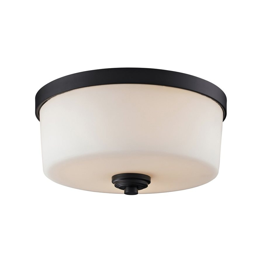Z-Lite Arlington 13.88-in W Oil Rubbed Bronze Flush Mount Light