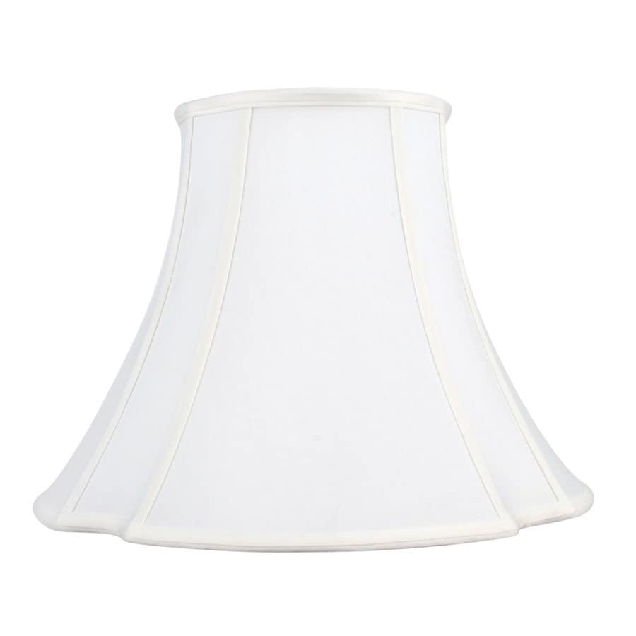 Livex Lighting 12-in x 16-in White Fabric Bell Lamp Shade