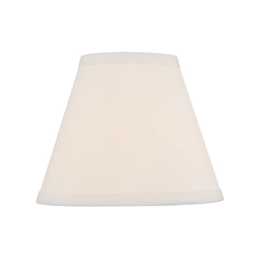 Livex Lighting 6.5-in x 8-in Off White Fabric Cone Lamp Shade