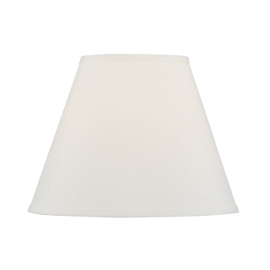 Livex Lighting 11-in x 14-in Off white Fabric Empire Lamp Shade