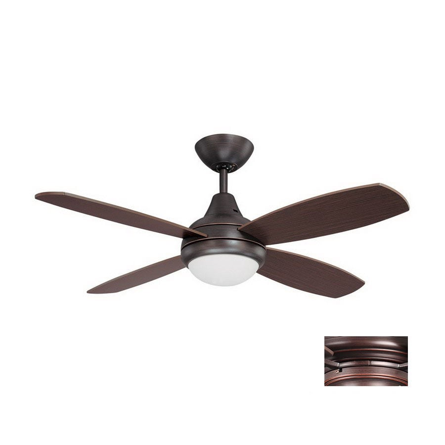 Kendal Lighting 42-in Aviator Copper Bronze Ceiling Fan with Light Kit and Remote