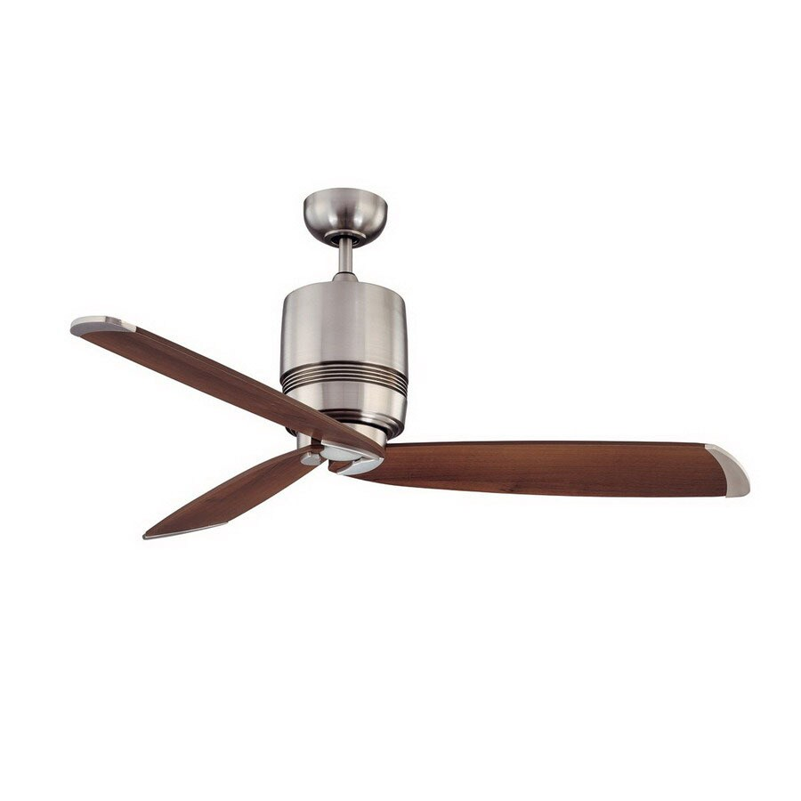 Kendal Lighting 52-in Tris Satin Nickel Ceiling Fan with Light Kit and Remote