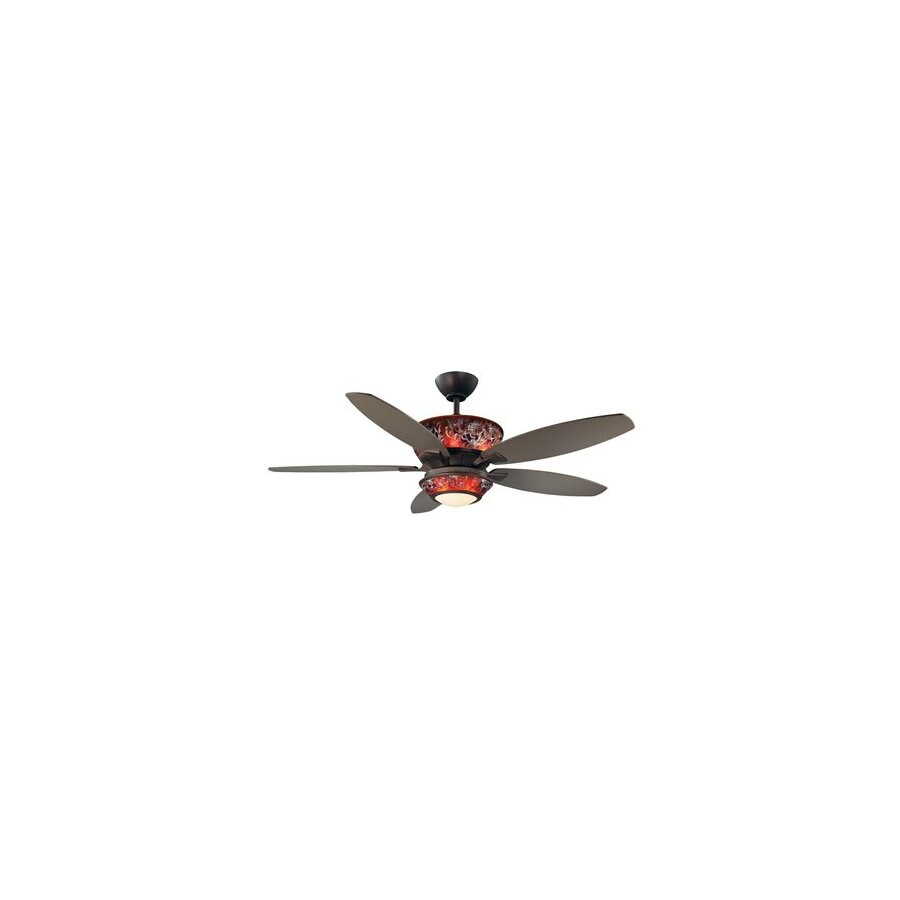 Kendal Lighting 52-in Mocha Oil-Rubbed Bronze Ceiling Fan with Light Kit and Remote