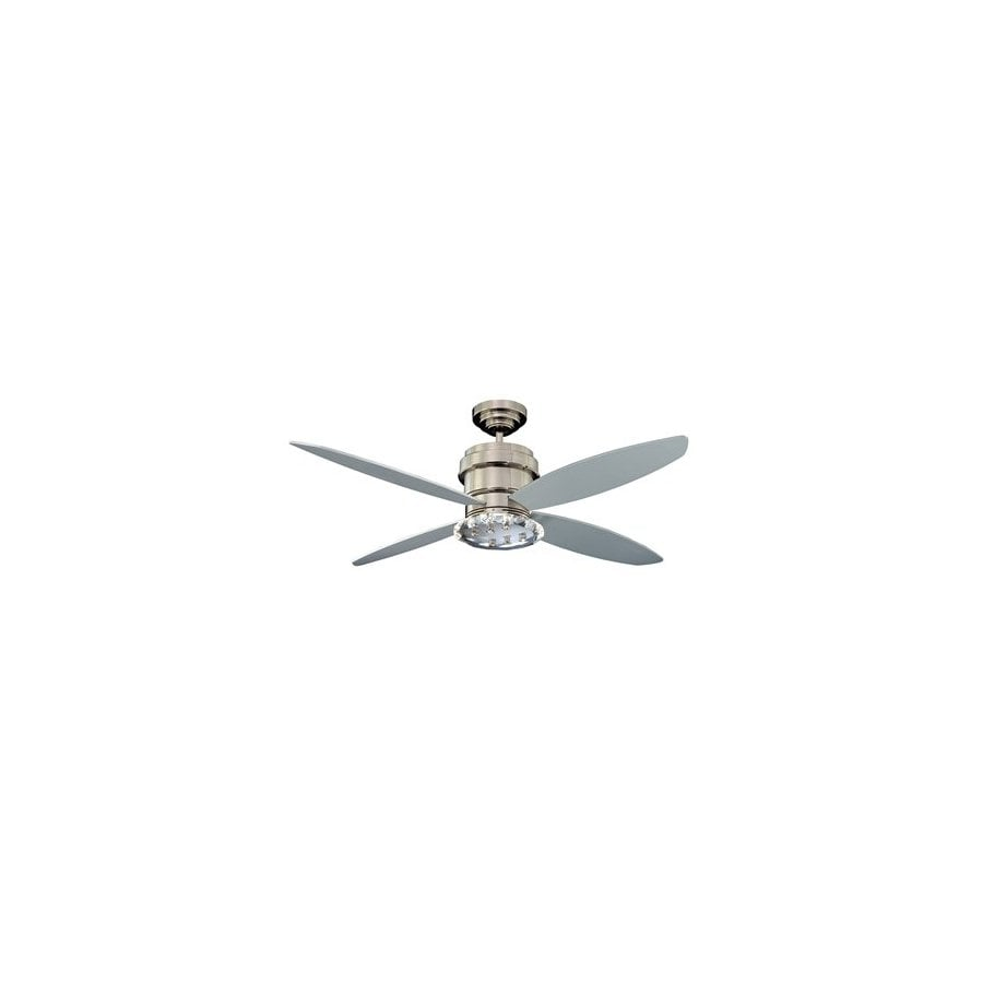 Kendal Lighting 52-in Optica Polished Nickel Ceiling Fan with Light Kit and Remote