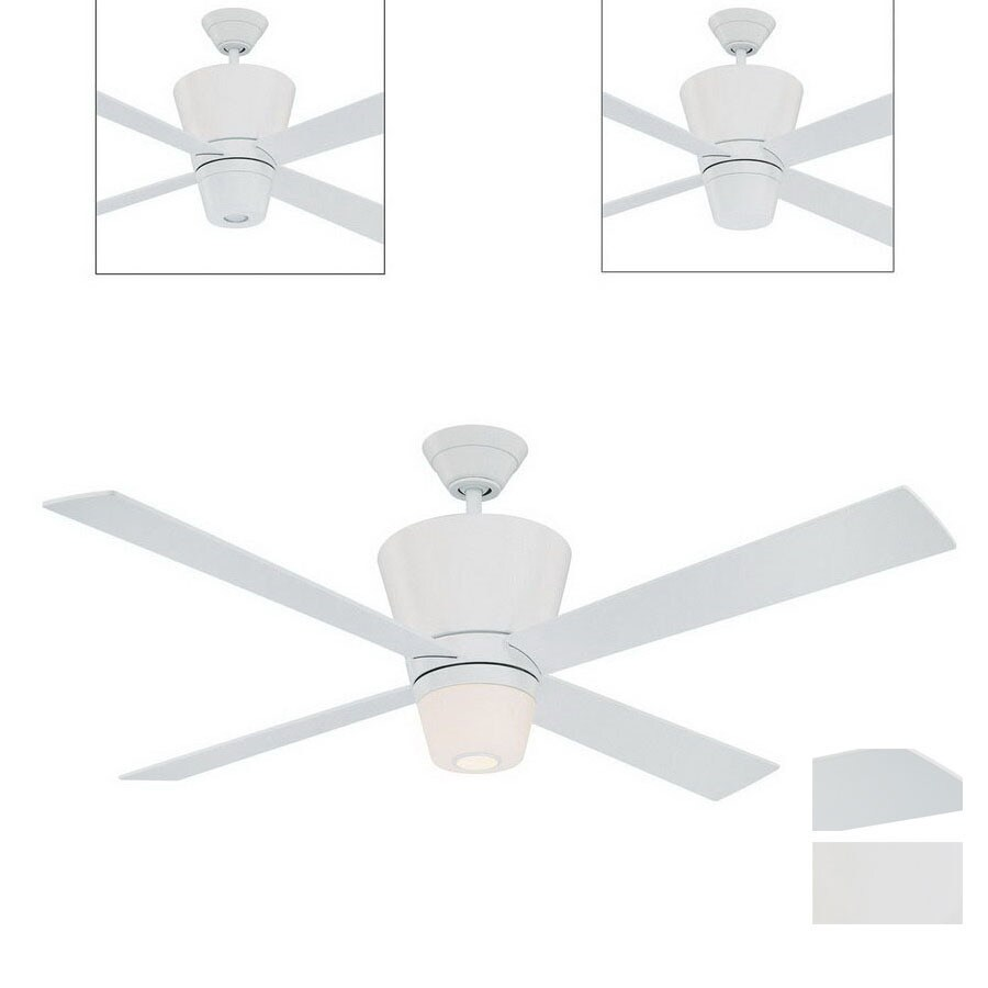 Kendal Lighting 52-in Contour White Ceiling Fan with Light Kit and Remote