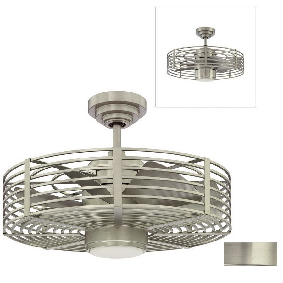 Kendal Lighting 23 In Enclave Satin Nickel Ceiling Fan