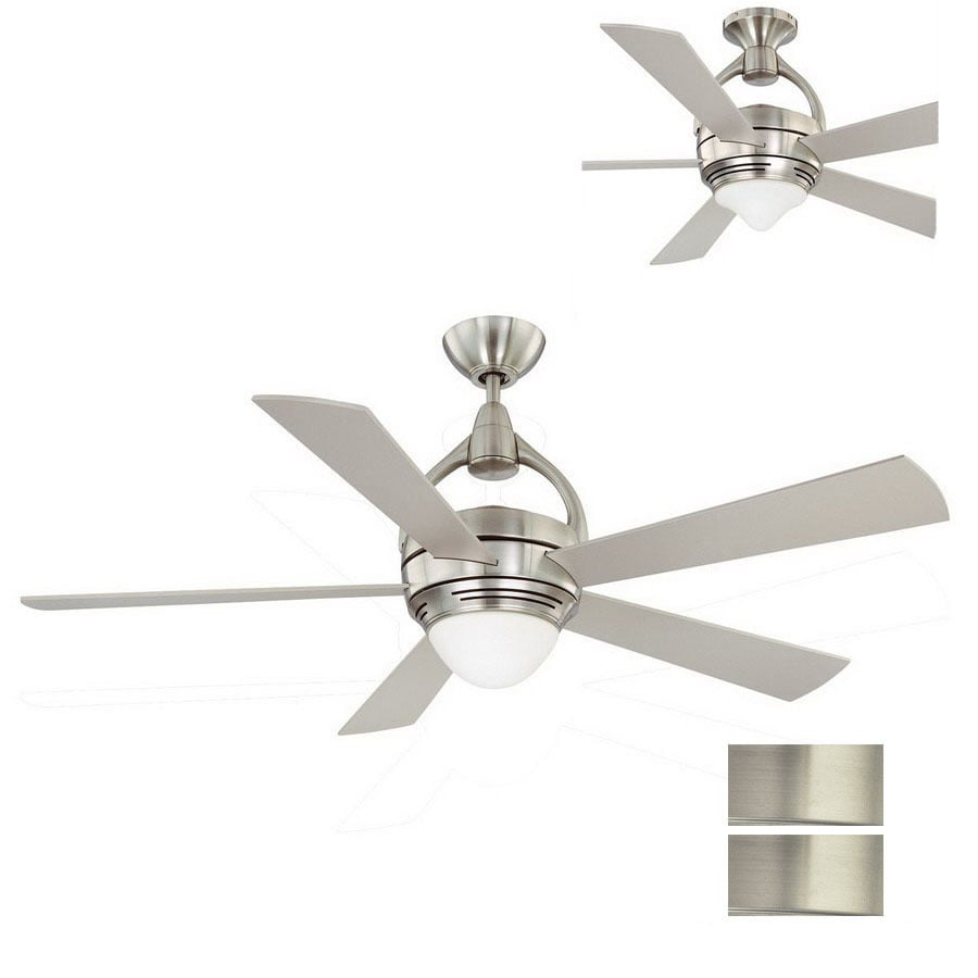 Kendal Lighting 52-in Premia Satin Nickel Ceiling Fan with Light Kit and Remote