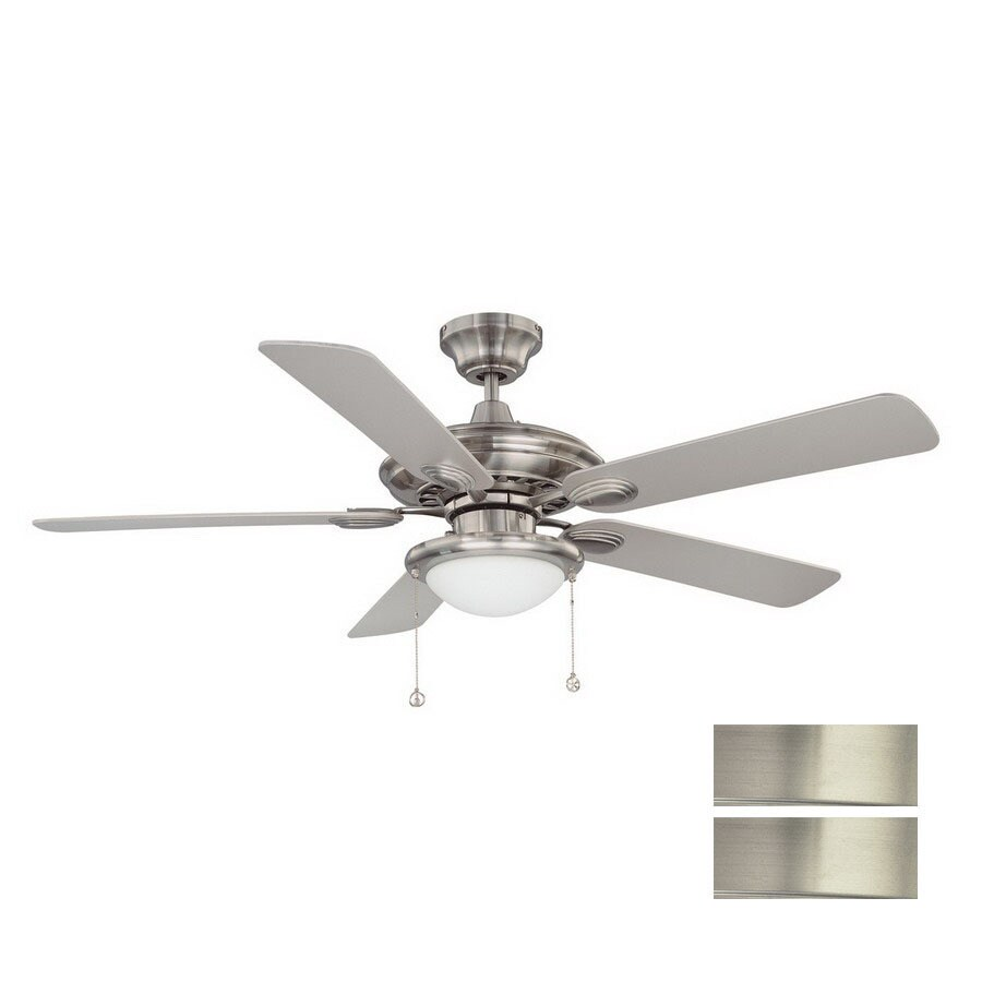 Kendal Lighting 52-in Builders Choice Satin Nickel Ceiling Fan with Light Kit