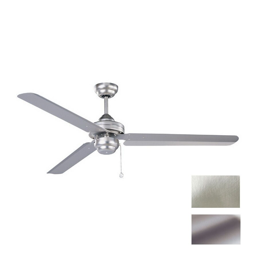 Kendal Lighting 54-in Studio Brushed Steel Ceiling Fan ENERGY STAR