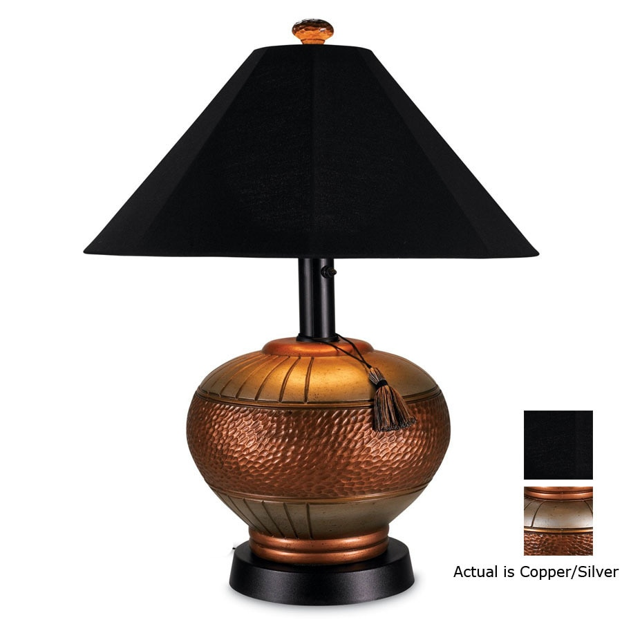 Patio Living Concepts 32-in Copper Outdoor Table Lamp with Black Canvas  Shade - Shop Patio Living Concepts 32-in Copper Outdoor Table Lamp With