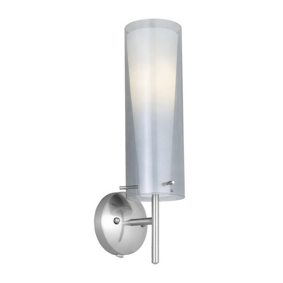 EGLO Pinto Nero 5-in W 1-Light Matte Nickel Arm Hardwired Wall Sconce