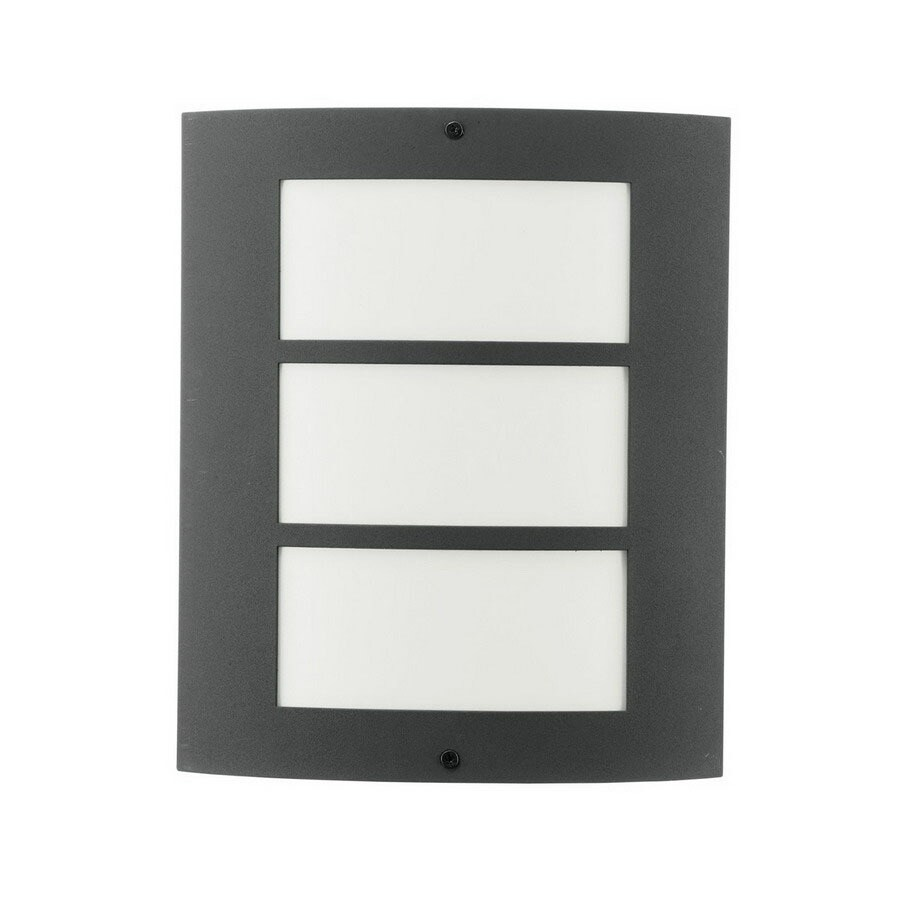 EGLO City 11-in Anthracite Outdoor Wall Light ENERGY STAR