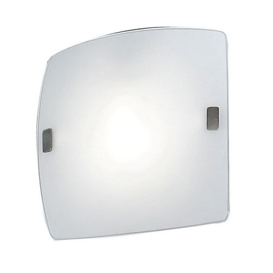 EGLO Aero 9.5-in W 1-Light Nickel Pocket Hardwired Wall Sconce