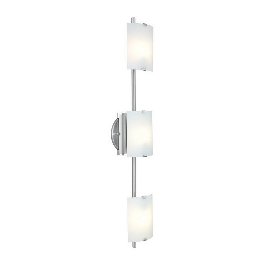 EGLO Fondo 5-in W 3-Light Nickel Arm Hardwired Wall Sconce