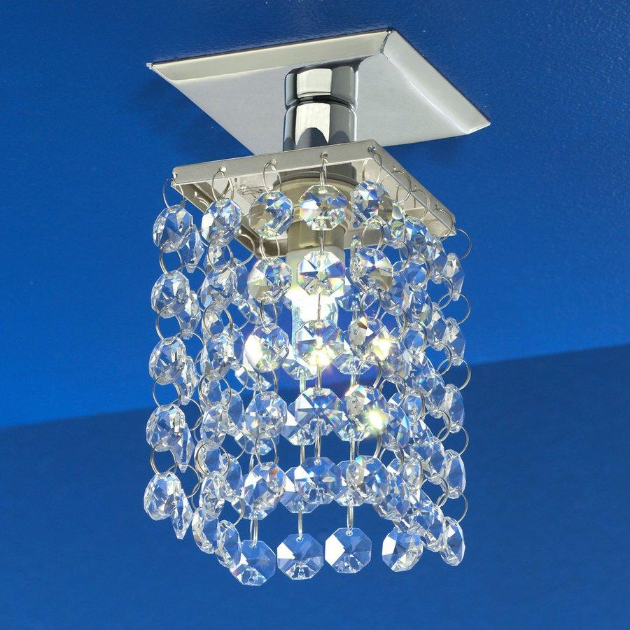 EGLO Pyton 4-in W Chrome Crystal Accent Semi-Flush Mount Light
