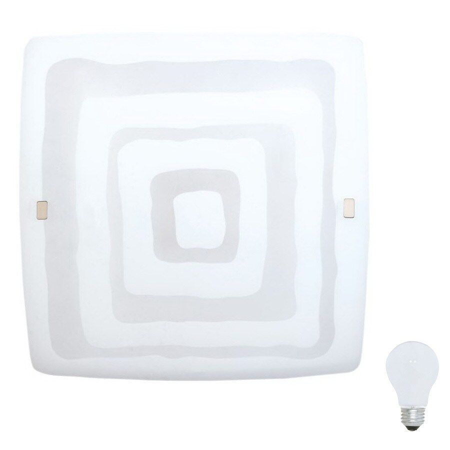 EGLO Aero 1 20-in W 1-Light Matte Nickel Pocket Wall Sconce