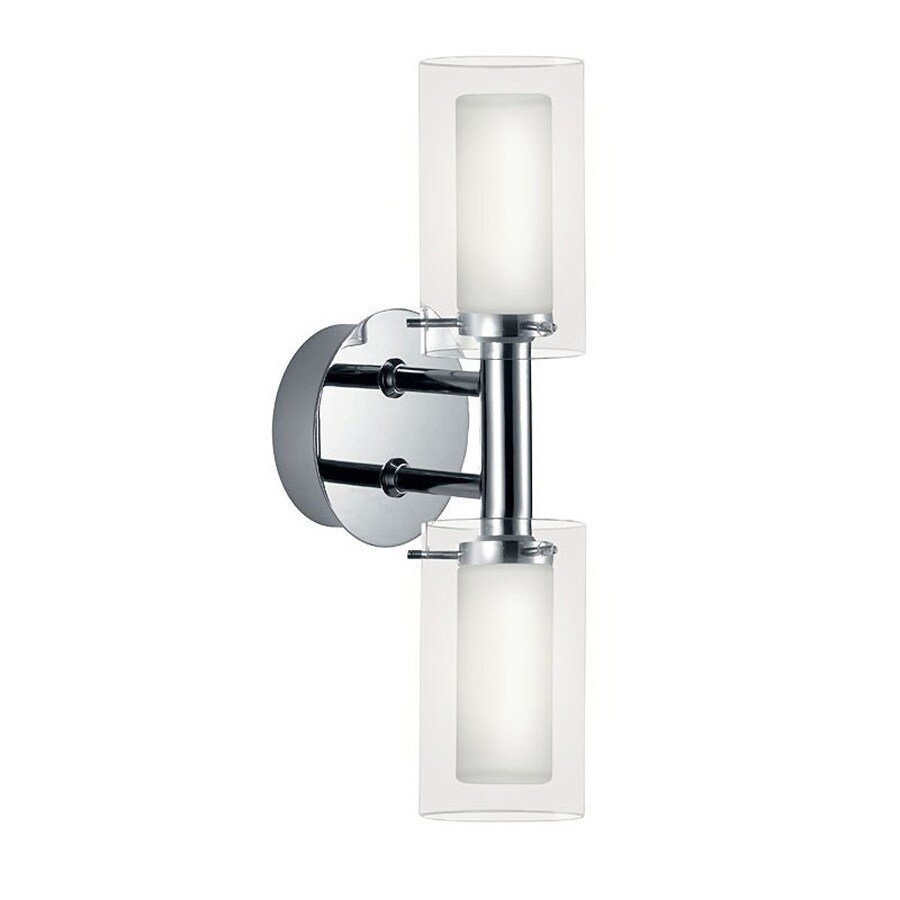 EGLO Palermo 5-in W 2-Light Chrome Arm Wall Sconce