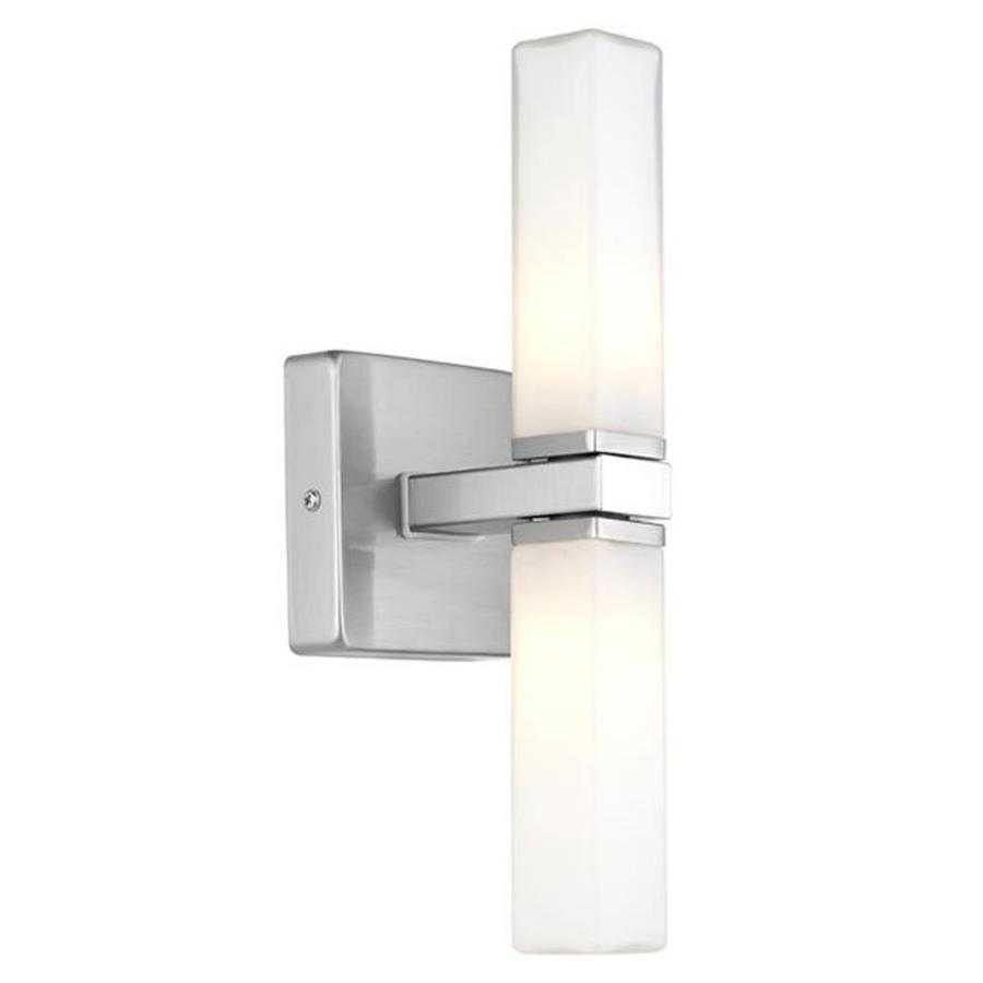 EGLO Palermo 4-in W 2-Light Matte Nickel Arm Hardwired Wall Sconce