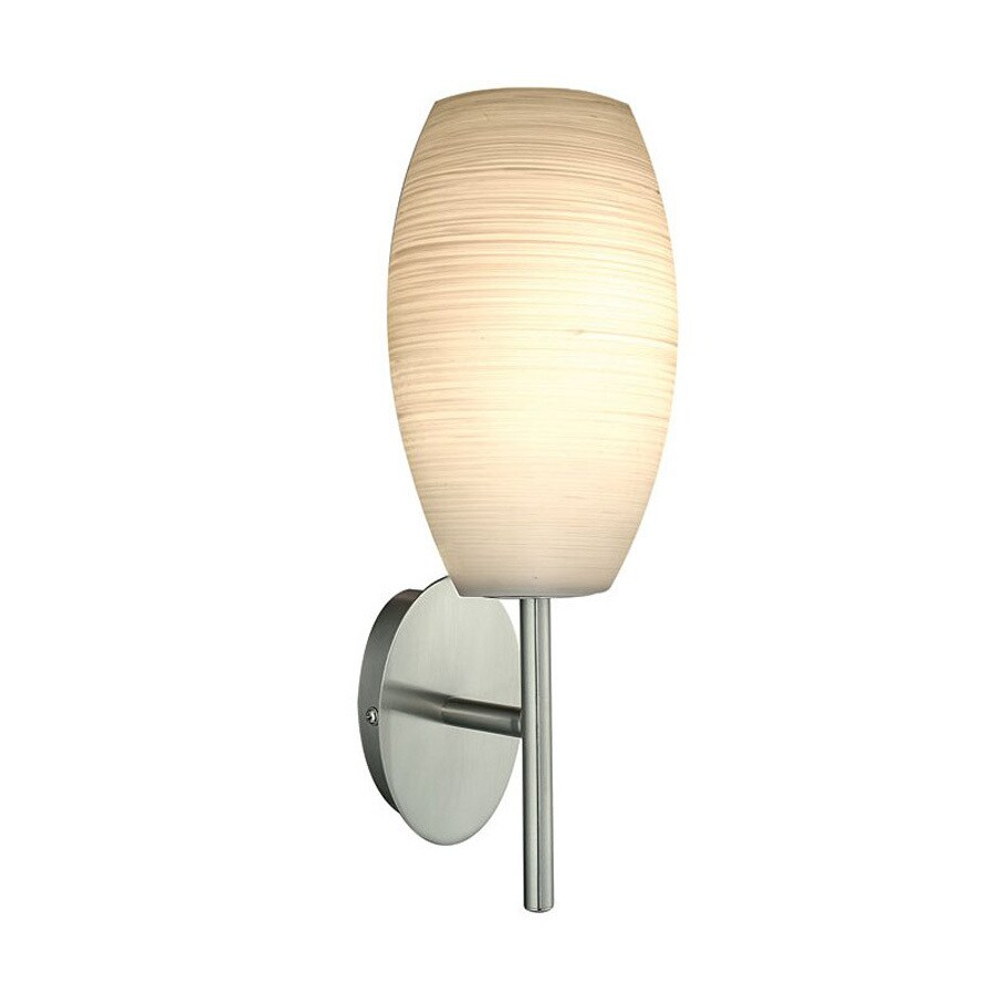 EGLO Batista 6-in W 1-Light Matte Nickel Arm Hardwired Wall Sconce