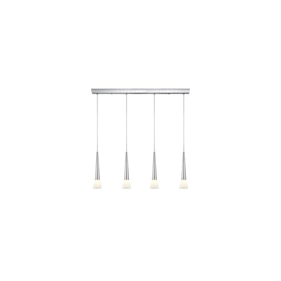 EGLO Legnano 4.5-in W 4-Light Matte Nickel Kitchen Island Light with White Shade