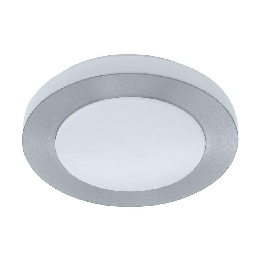 EGLO Carpi 11.75-in W Brushed Aluminum Ceiling Flush Mount Light
