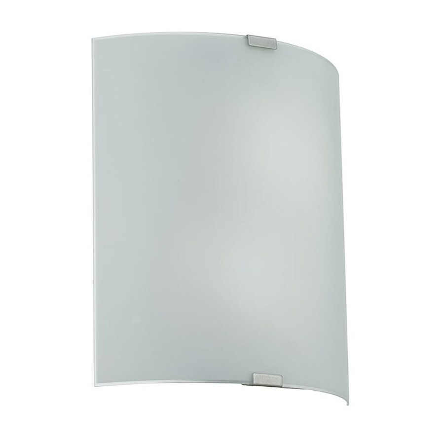 EGLO Grafik 12.625-in W 2-Light Chrome Pocket Hardwired Wall Sconce