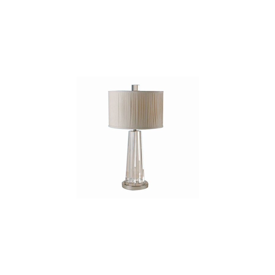 Shop candice olson by af lighting 27 in chrome crystal table lamp candice olson by af lighting 27 in chrome crystal table lamp with fabric shade geotapseo Image collections