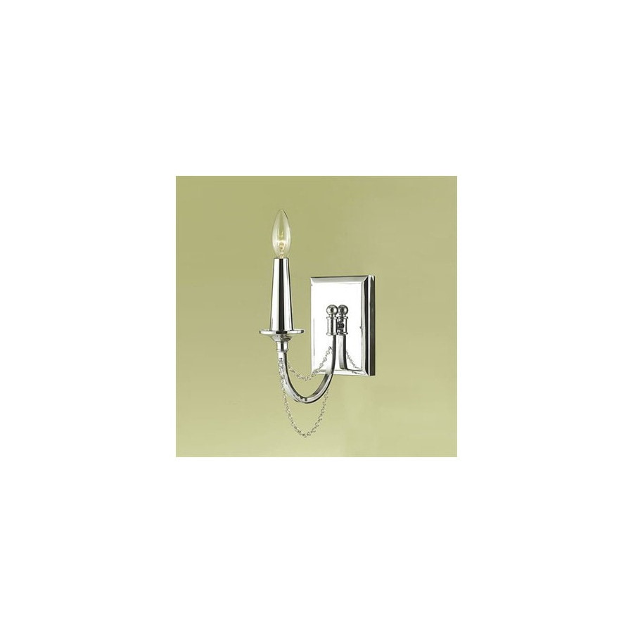 Candice Olson by AF Lighting Candice Olson Shelby 4.5-in W 1-Light Chrome Arm Hardwired Wall Sconce
