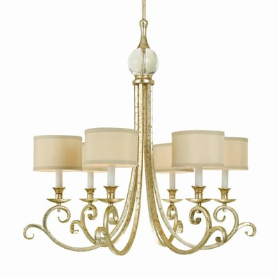 Candice Olson By Af Lighting Lucy 30 In 6 Light Soft Gold