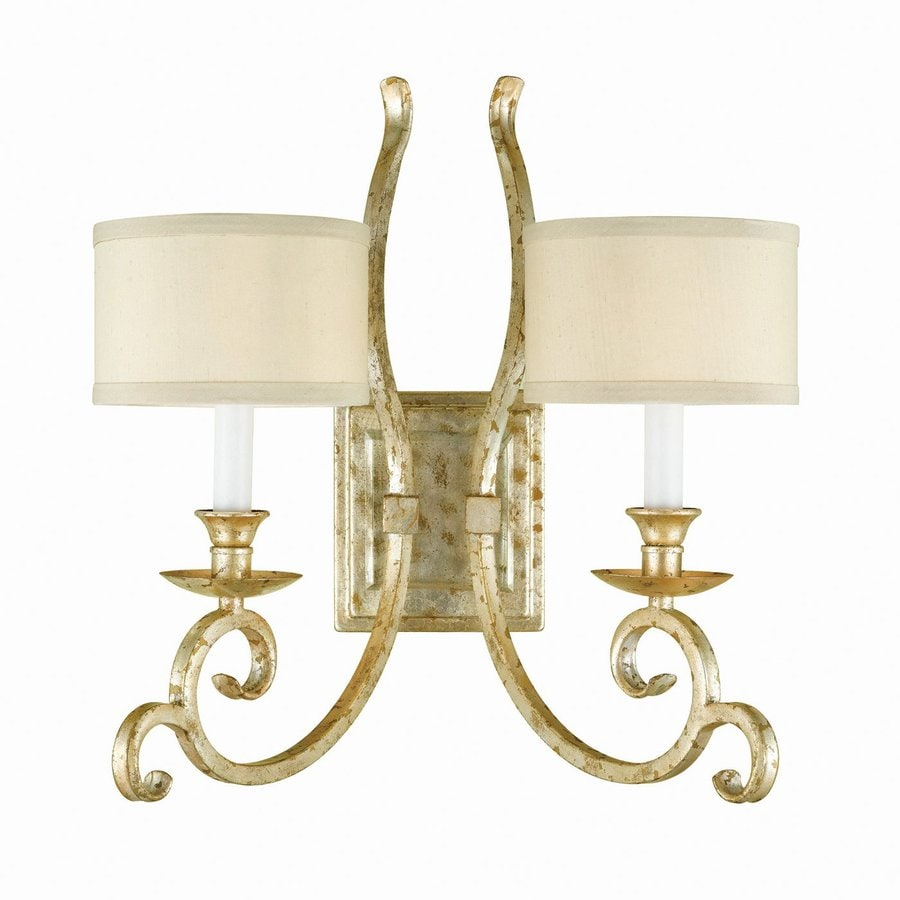 Candice Olson by AF Lighting Candice Olson Lucy 14.5-in W 2-Light Soft Gold Arm Hardwired Wall Sconce