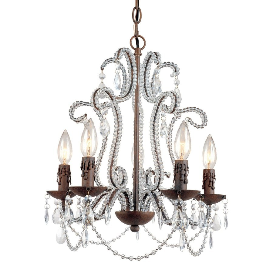 AF Lighting Beloved 16-in 5-Light Godiva Candle Chandelier