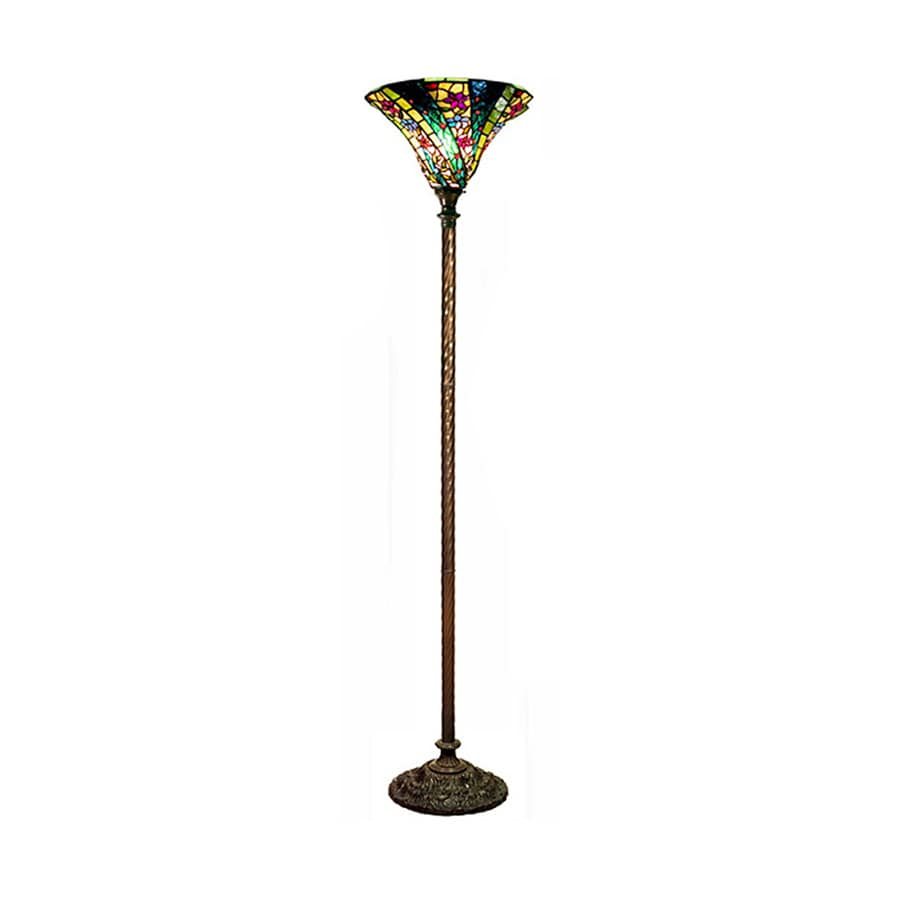 Shop warehouse of tiffany green wave 72 in foot switch for Floor lamp with green shade