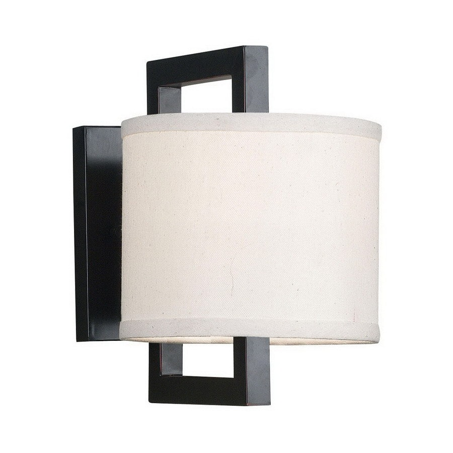Kenroy Home Endicott 6.88-in W 1-Light Oil-Rubbed Bronze Arm Hardwired Wall Sconce