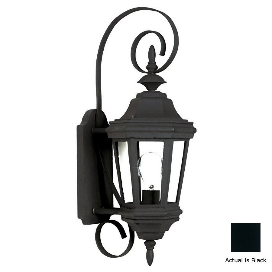Kenroy Home Estate 21-in Black Outdoor Wall Light