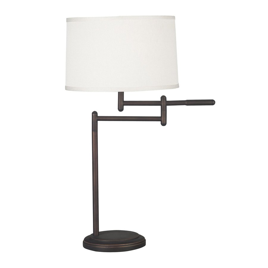 Kenroy Home Theta 30.75-in Copper bronze Plug-In 3-way Table Lamp with Fabric Shade