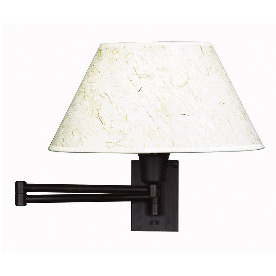 shop kenroy home simplicity w 1 light bronze arm wall sconce at lowe. Black Bedroom Furniture Sets. Home Design Ideas